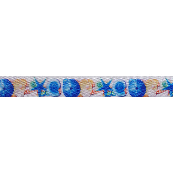 "Salty Vibes - 5/8"" Printed Fold Over Elastic"
