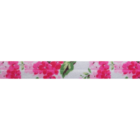 "50 Shades of Pink - 5/8"" Printed Fold Over Elastic"