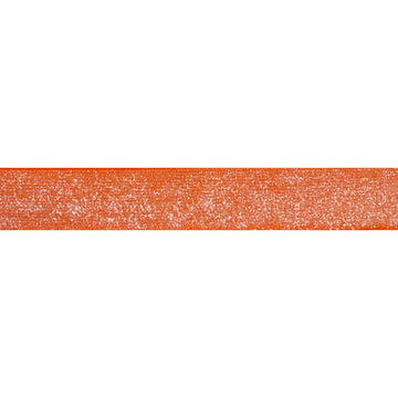 "Neon Orange - 3/8"" Frosted Glitter Elastic"