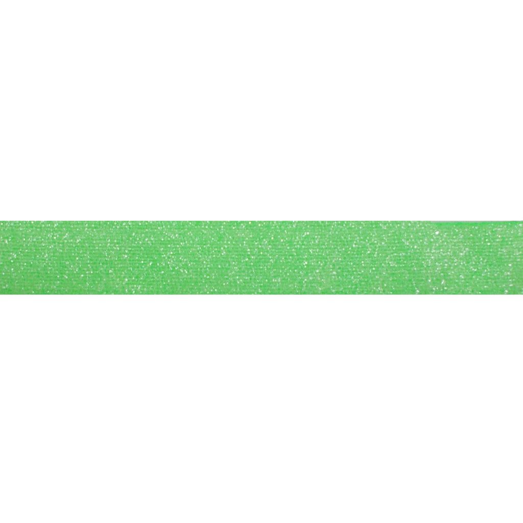"Neon Green - 5/8"" Frosted Glitter Elastic"