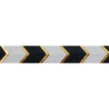 "Black & Gold Arrow Chevron - 5/8"" Metallic Printed Fold Over Elastic"