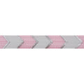 "Ballerina Pink & Silver Arrow Chevron - 5/8"" Metallic Printed Fold Over Elastic"
