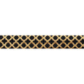 "Black & Small Gold Quatrefoil - 5/8"" Metallic Printed Fold Over Elastic"