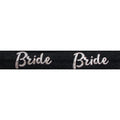 "Black & Silver Bride - 5/8"" Metallic Printed Fold Over Elastic"