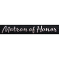 "Black & Silver Matron of Honor - 5/8"" Metallic Printed Fold Over Elastic"