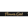 "Black & Gold Flower Girl - 5/8"" Metallic Printed Fold Over Elastic"