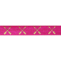 "Hot Pink & Gold Arrows - 5/8"" Metallic Printed Fold Over Elastic"