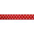 "Red & White Polka Dots - 5/8"" Printed Fold Over Elastic"