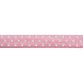 "Light Pink & White Polka Dots - 5/8"" Printed Fold Over Elastic"