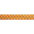 "Orange & White Polka Dots - 5/8"" Printed Fold Over Elastic"