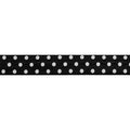 "Black & White Polka Dots - 5/8"" Printed Fold Over Elastic"