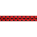 "Red & Black Polka Dots - 5/8"" Printed Fold Over Elastic"