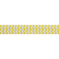 "White & Yellow Chevron - 5/8"" Printed Fold Over Elastic"