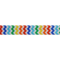 "Primary Rainbow Chevron - 5/8"" Printed Fold Over Elastic"