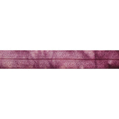 "Coral Peach & Wineberry Tie Dye - 5/8"" Printed Fold Over Elastic"