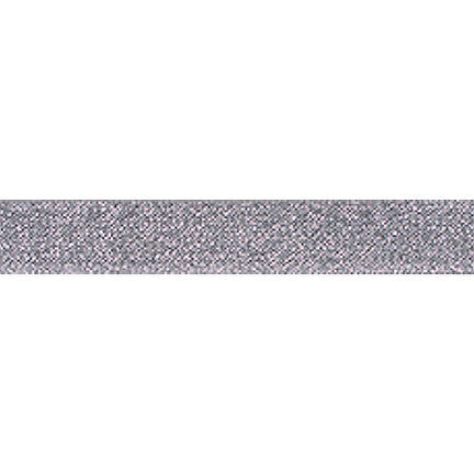 "Silver Sparkle - 5/8"" Printed Fold Over Elastic"