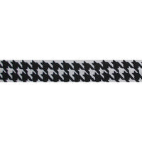 "Houndstooth - 5/8"" Printed Fold Over Elastic"