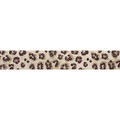 "Glitter Leopard - 5/8"" Printed Fold Over Elastic"