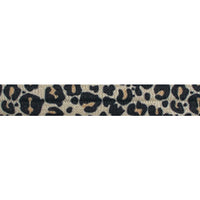 "Tan Cheetah - 5/8"" Printed Fold Over Elastic"