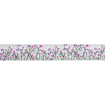 "Whimsical Fields - 5/8"" Printed Fold Over Elastic"