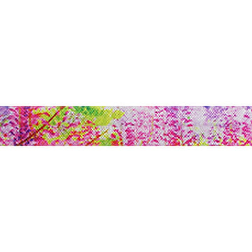 "Neon Forest - 5/8"" Printed Fold Over Elastic"