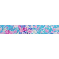 "Cotton Candy Floral - 5/8"" Printed Fold Over Elastic"