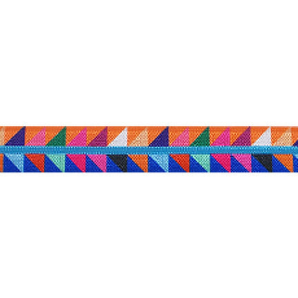 "Rainbow Aztec Triangles - 5/8"" Printed Fold Over Elastic"
