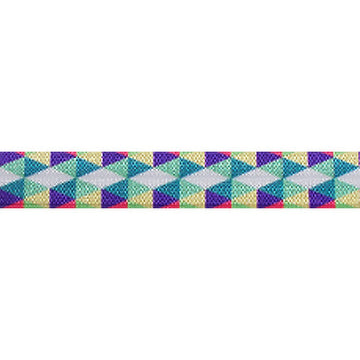 "Spring Aztec - 5/8"" Printed Fold Over Elastic"