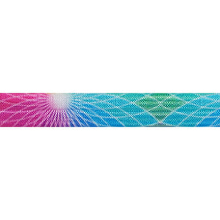 "Om - 5/8"" Printed Fold Over Elastic"