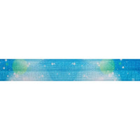 "Blue Moon - 5/8"" Printed Fold Over Elastic"