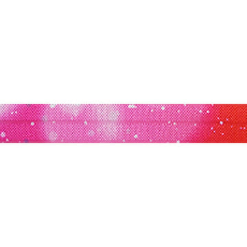 "Pulsar Pink - 5/8"" Printed Fold Over Elastic"