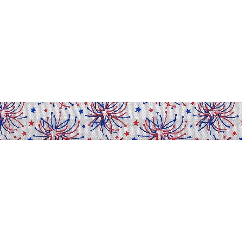 "Let Your Colors Burst - 5/8"" Printed Fold Over Elastic"