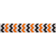 "Halloween Chevron - 5/8"" Printed Fold Over Elastic"