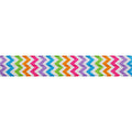 "Spring Chevron - 5/8"" Printed Fold Over Elastic"