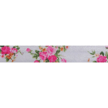 "She's a Wildflower - 5/8"" Printed Fold Over Elastic"