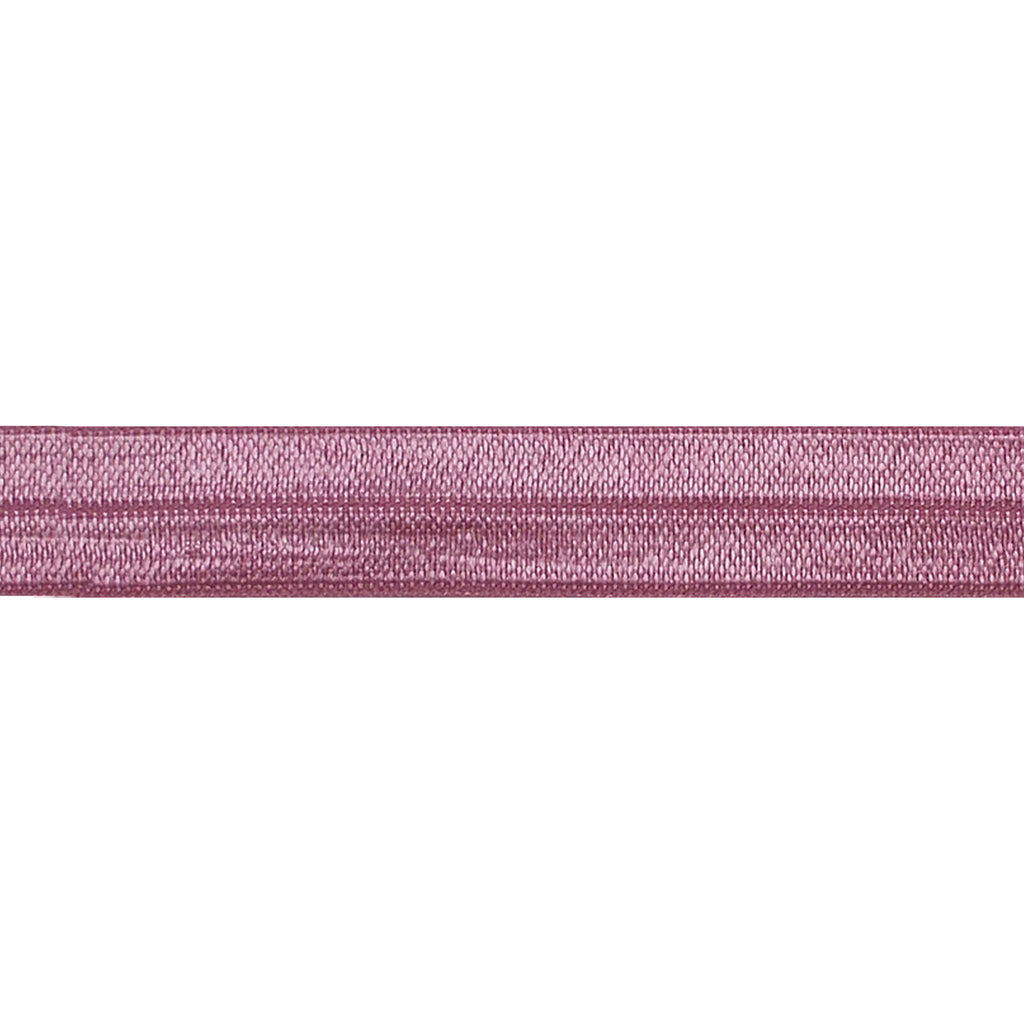"Dusty Rose - 5/8"" Solid Fold Over Elastic"