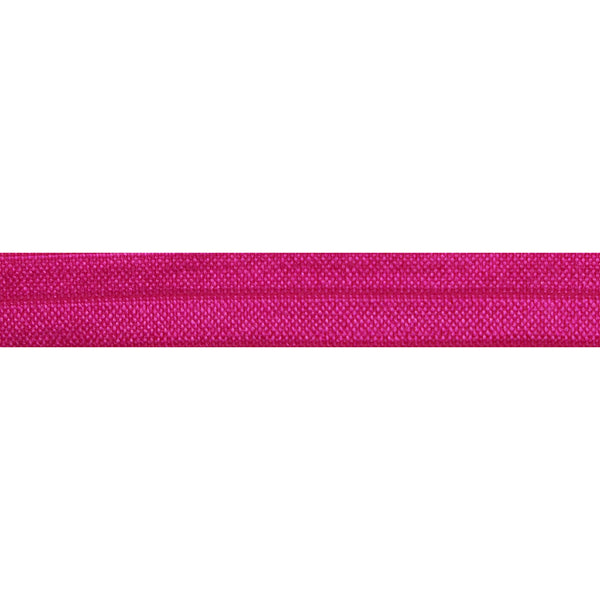 "Hot Pink - 5/8"" Solid Fold Over Elastic"