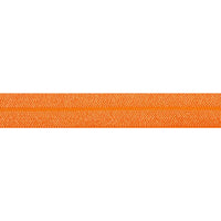 "5 Yards - Neon Orange - 5/8"" Solid Fold Over Elastic"