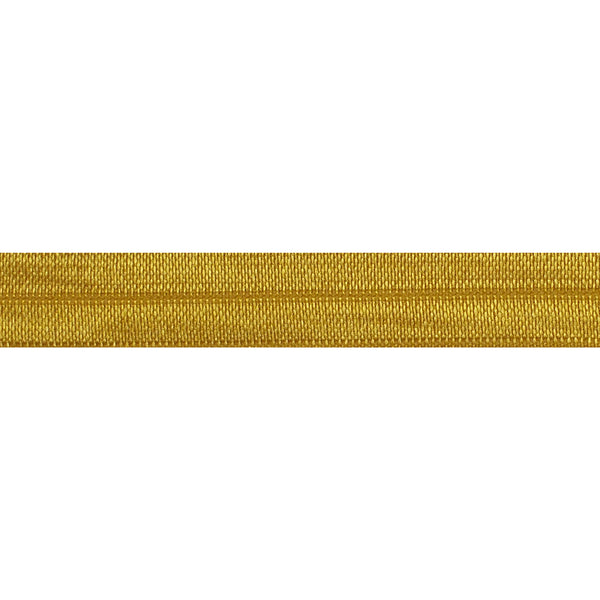 "Mustard - 5/8"" Solid Fold Over Elastic"
