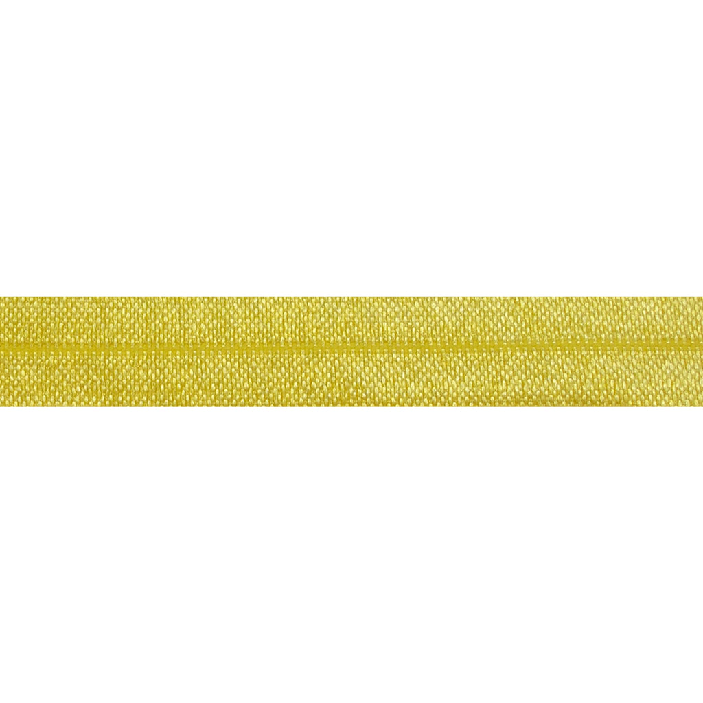 "Yellow - 5/8"" Solid Fold Over Elastic"