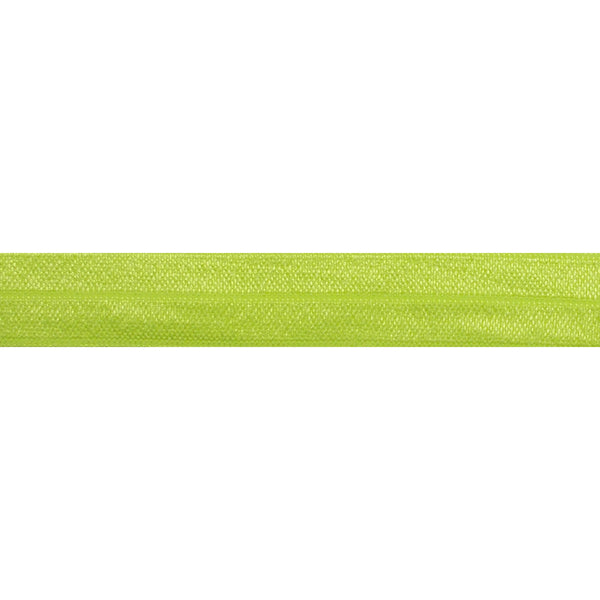 "Neon Yellow - 5/8"" Solid Fold Over Elastic"