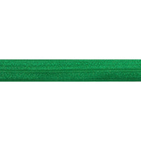 "Green - 5/8"" Solid Fold Over Elastic"