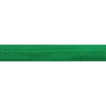 "5 Yards - Green - 5/8"" Solid Fold Over Elastic"