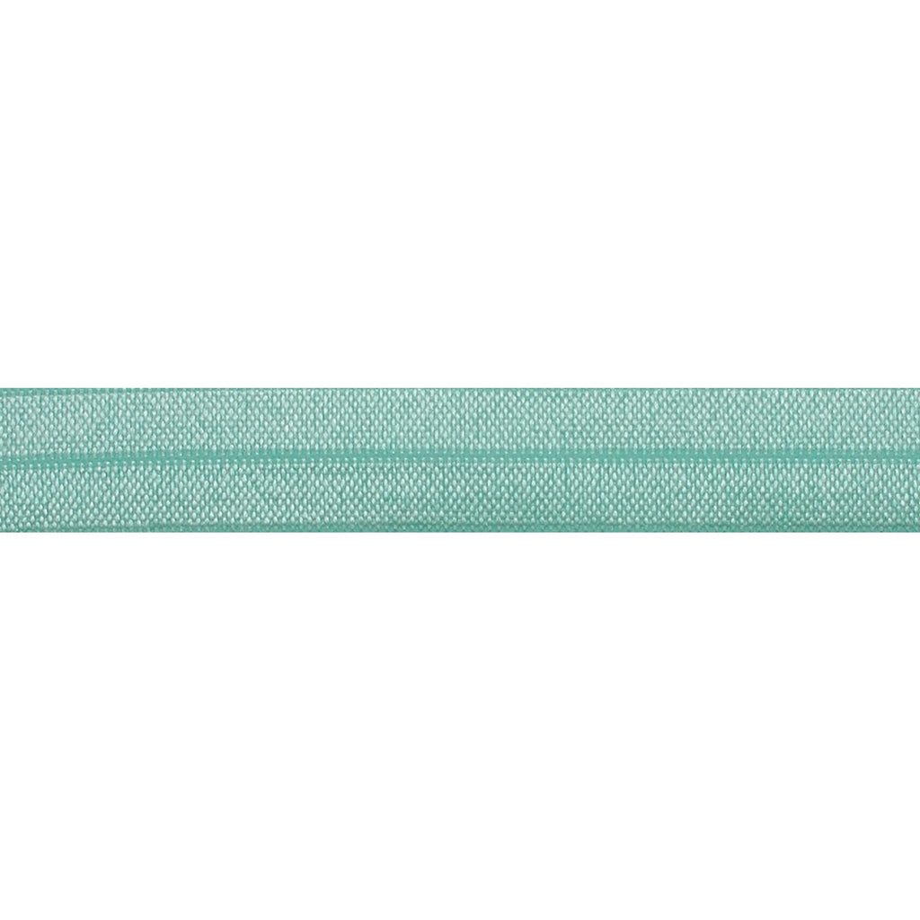 "Sea Foam - 5/8"" Solid Fold Over Elastic"