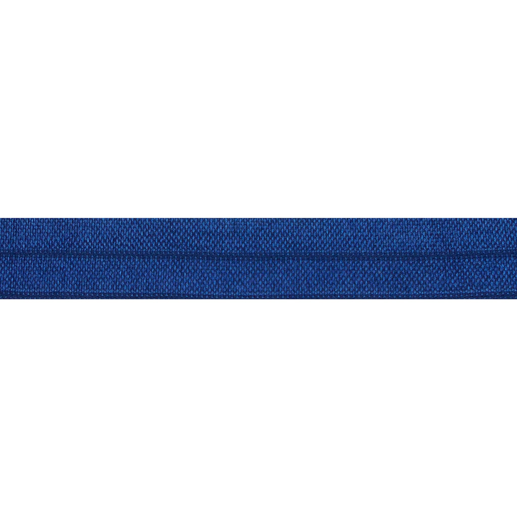"Navy Blue - 5/8"" Solid Fold Over Elastic"
