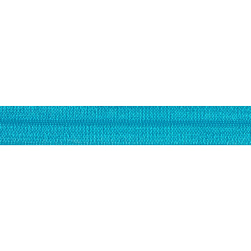 "5 Yards - Island Blue - 5/8"" Solid Fold Over Elastic"