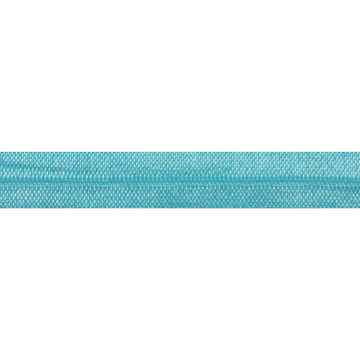 "5 Yards - Aqua - 5/8"" Solid Fold Over Elastic"