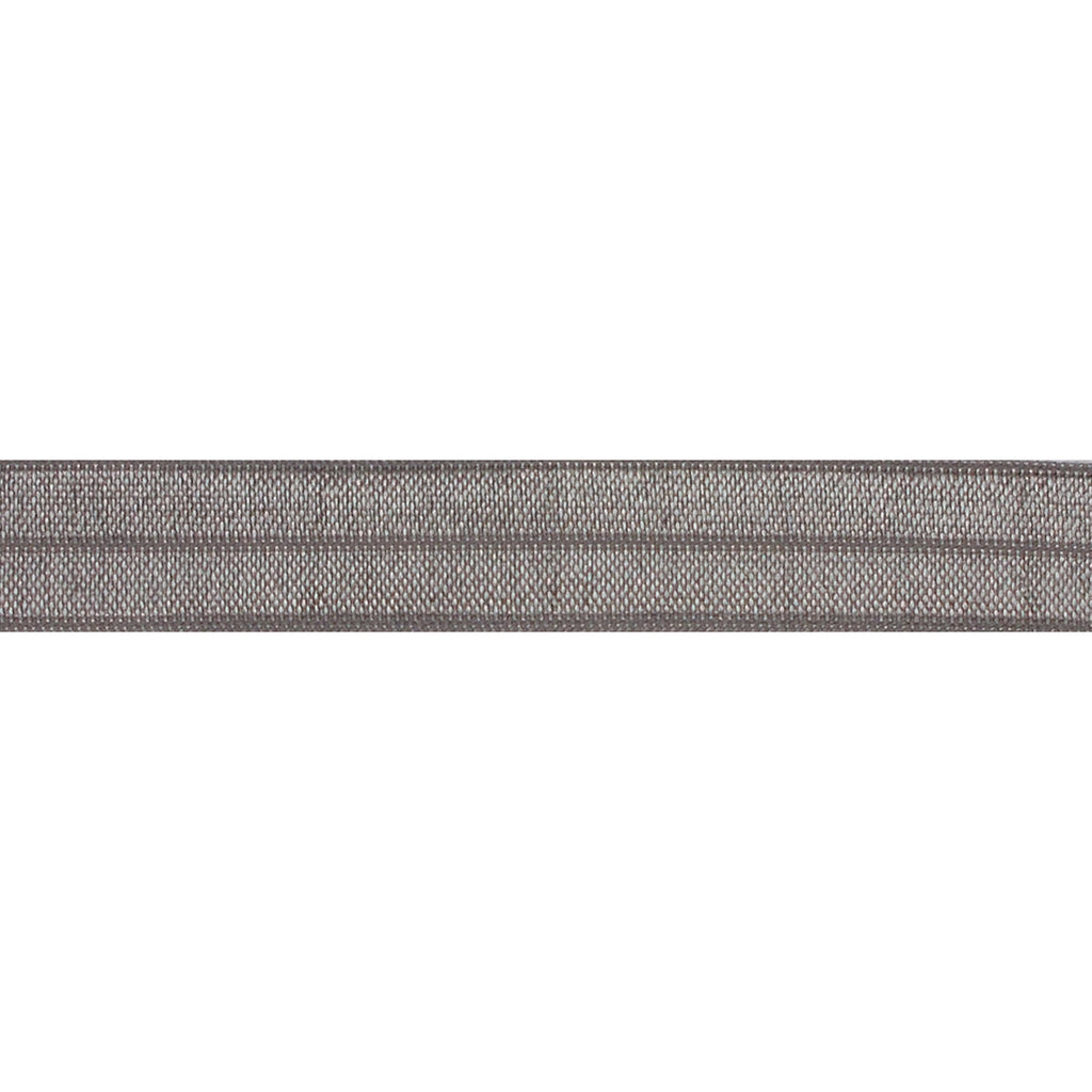 "Gray - 5/8"" Solid Fold Over Elastic"