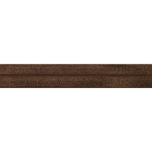 "Brown - 5/8"" Solid Fold Over Elastic"