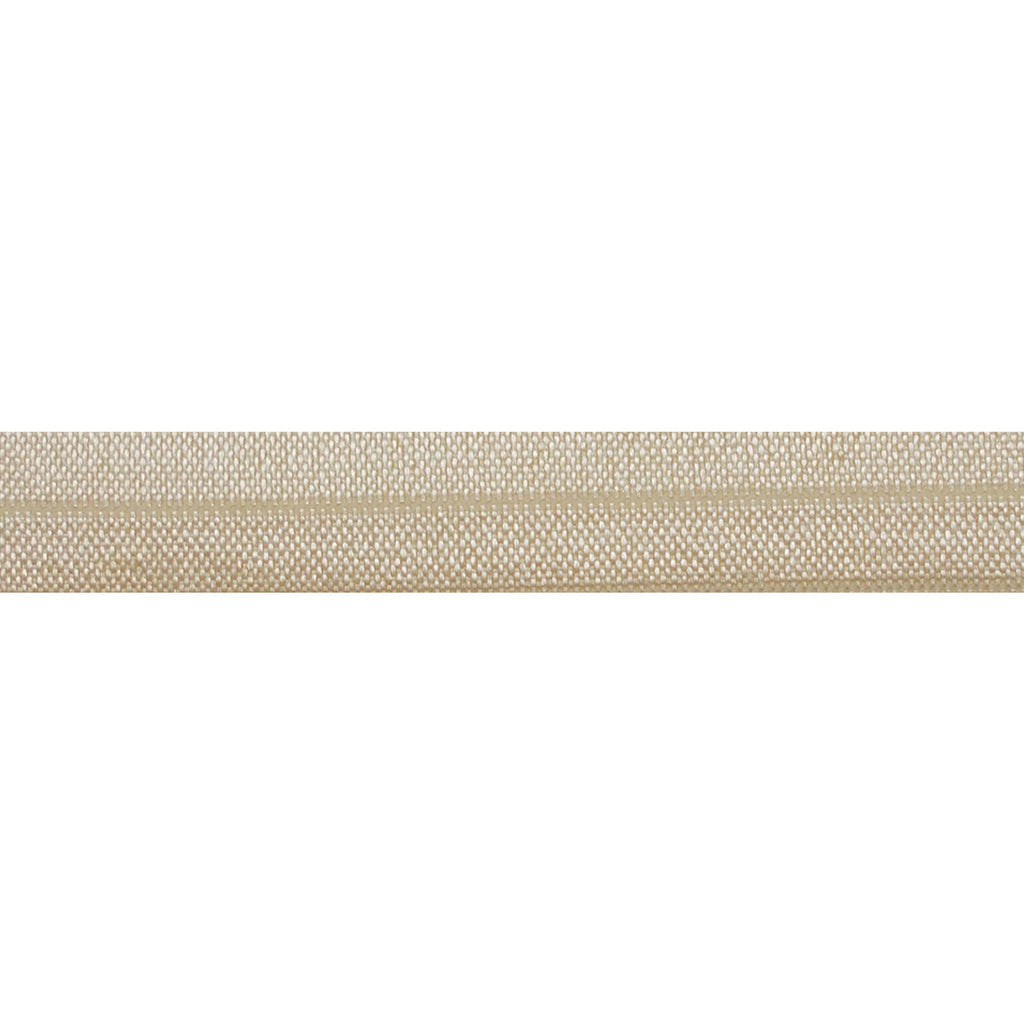 "Cream - 5/8"" Solid Fold Over Elastic"